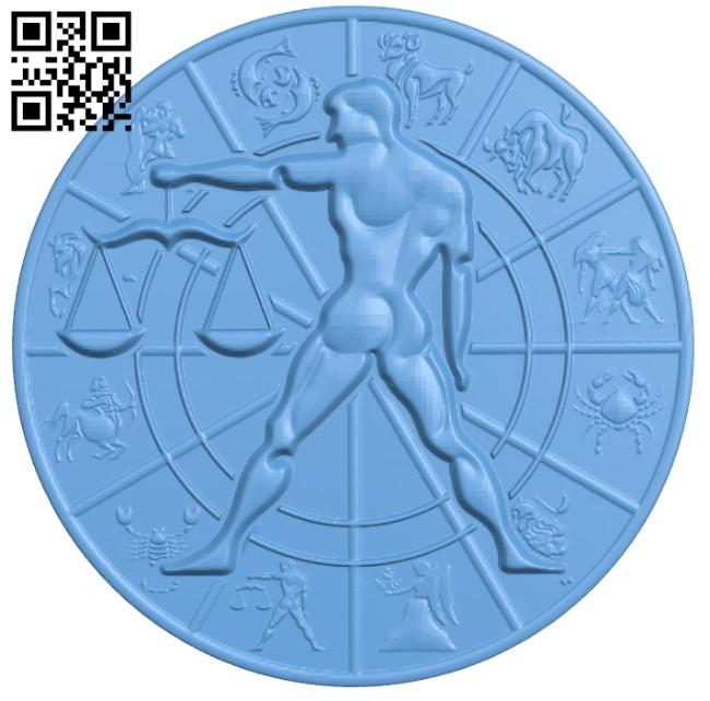 Zodiac pattern - Libra A006407 download free stl files 3d model for CNC wood carving