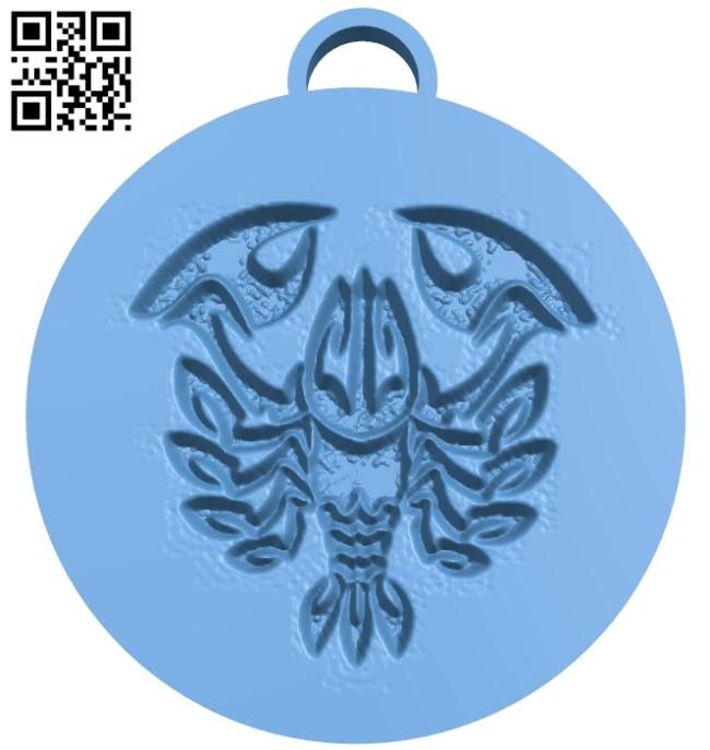 cancer pendant B009453 file obj free download 3D Model for CNC and 3d printer