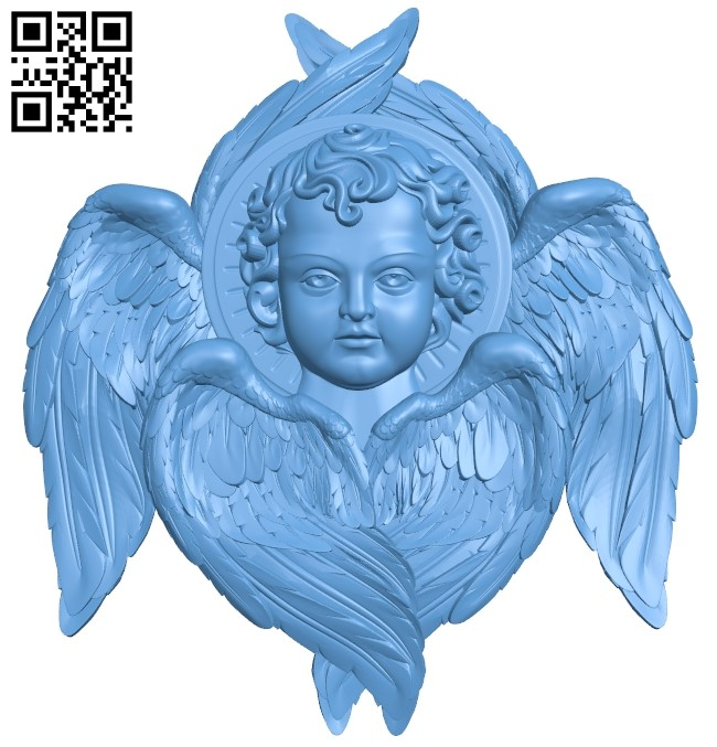 Angel A006494 download free stl files 3d model for CNC wood carving