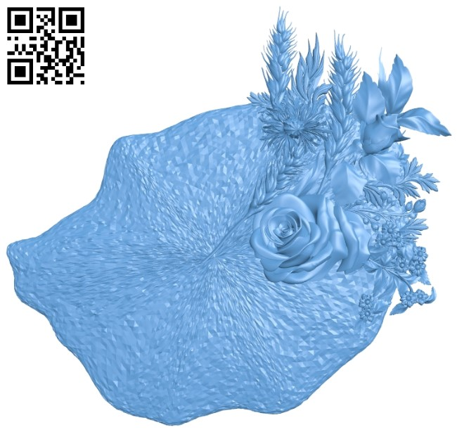 Bouquet A006497 download free stl files 3d model for CNC wood carving