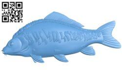 Carp – fish A006502 download free stl files 3d model for CNC wood carving