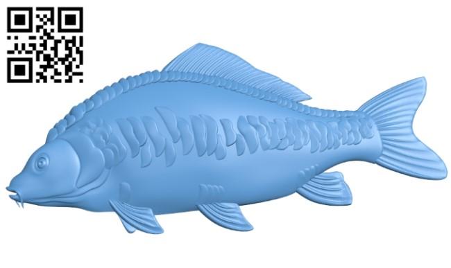 Carp - fish A006502 download free stl files 3d model for CNC wood carving