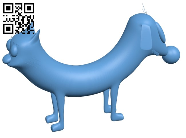 Cat Dog B009539 file stl free download 3D Model for CNC and 3d printer