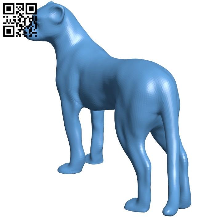 Cheetah figurine B009601 file stl free download 3D Model for CNC and 3d printer
