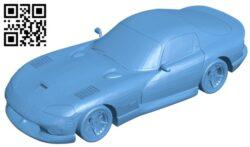 Dodge Viper GTS – car B009599 file stl free download 3D Model for CNC and 3d printer