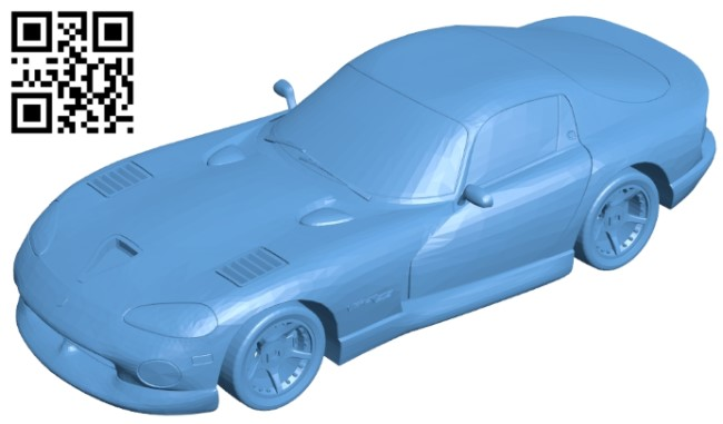 Dodge Viper GTS - car B009599 file stl free download 3D Model for CNC and 3d printer