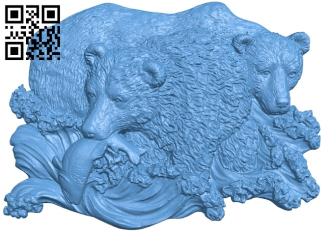 Fishing bear A006500 download free stl files 3d model for CNC wood carving