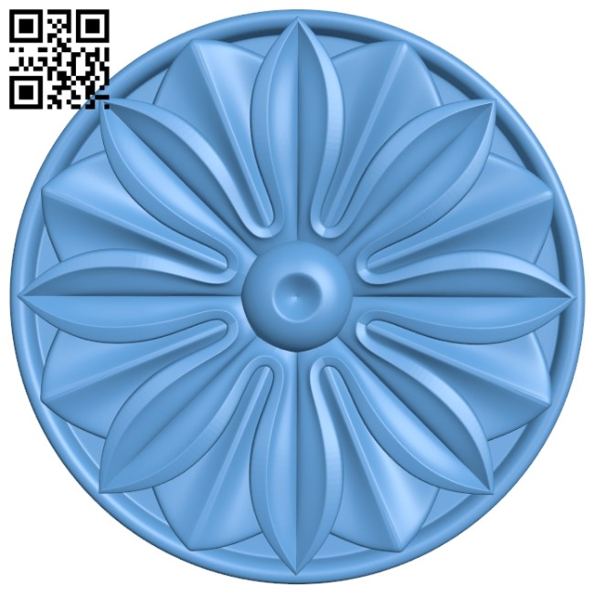 Flower pattern A006506 download free stl files 3d model for CNC wood carving
