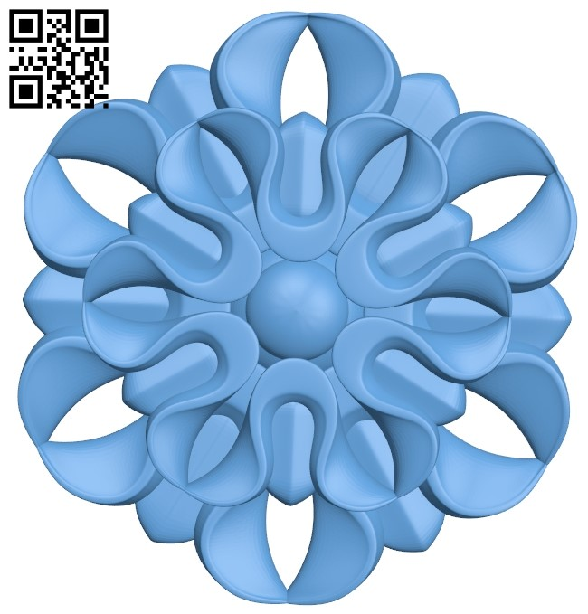 Flower pattern A006510 download free stl files 3d model for CNC wood carving