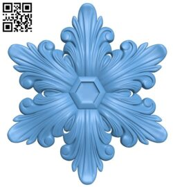 Flower pattern A006511 download free stl files 3d model for CNC wood carving