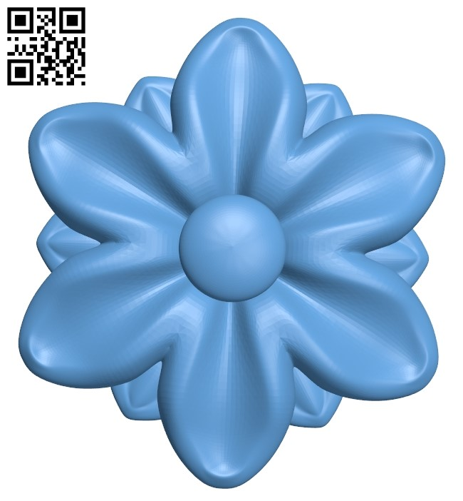 Flower pattern A006513 download free stl files 3d model for CNC wood carving