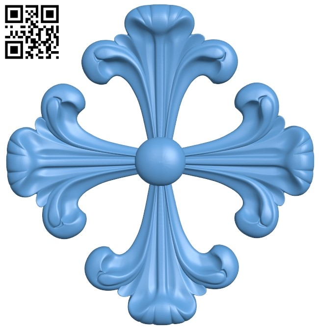 Flower pattern A006514 download free stl files 3d model for CNC wood carving