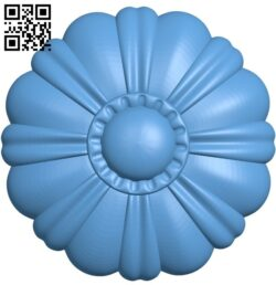 Flower pattern A006515 download free stl files 3d model for CNC wood carving