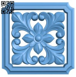 Flower pattern A006516 download free stl files 3d model for CNC wood carving