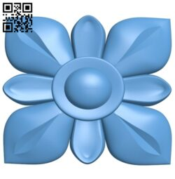 Flower pattern A006517 download free stl files 3d model for CNC wood carving