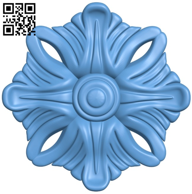 Flower pattern A006518 download free stl files 3d model for CNC wood carving