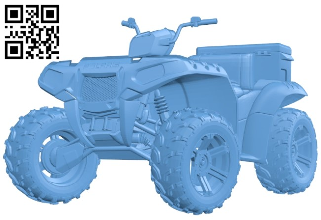 Four-wheeled motorbike A006493 download free stl files 3d model for CNC wood carving