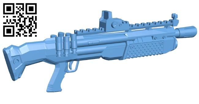 Heavy Shotgun Fortnite - gun B009582 file stl free download 3D Model for CNC and 3d printer