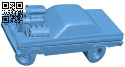 Hot rod car B009596 file stl free download 3D Model for CNC and 3d printer