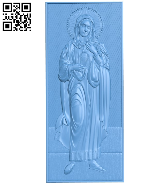 Icon Saint Mary A006535 download free stl files 3d model for CNC wood carving