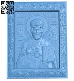 Icon Saint Nicholas the Wonderworker A006537 download free stl files 3d model for CNC wood carving