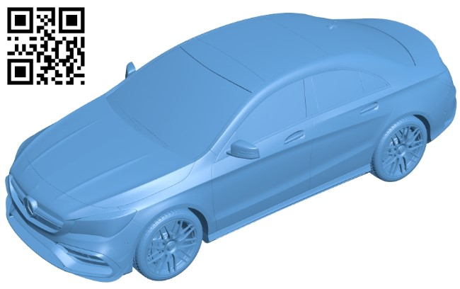 Mercedes CLA 45 - car B009609 file stl free download 3D Model for CNC and 3d printer
