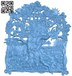 Old tree on the beach A006491 download free stl files 3d model for CNC wood carving