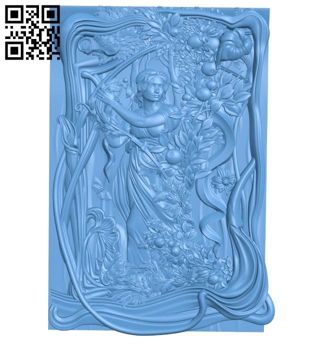 Original model Eva A006509 download free stl files 3d model for CNC wood carving