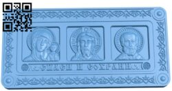 Panel Religion A006532 download free stl files 3d model for CNC wood carving