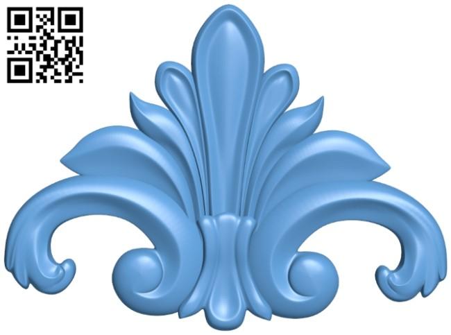 Pattern decor design A006505 download free stl files 3d model for CNC wood carving