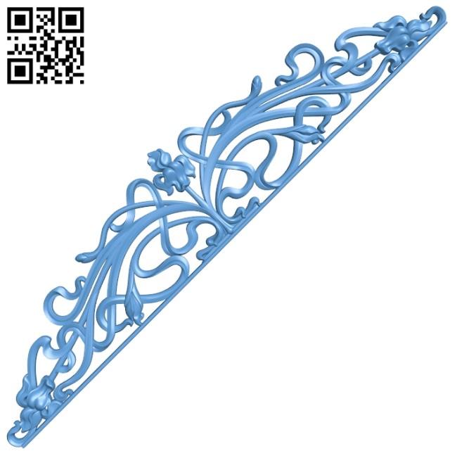 Pattern decor design A006524 download free stl files 3d model for CNC wood carving