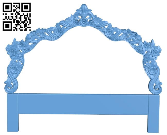 Pattern of the bed frame A006470 download free stl files 3d model for CNC wood carving