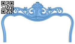 Pattern of the bed frame A006472 download free stl files 3d model for CNC wood carving