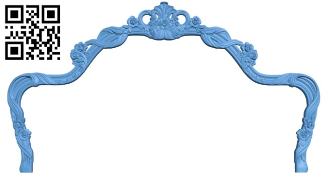 Pattern of the bed frame A006474 download free stl files 3d model for CNC wood carving