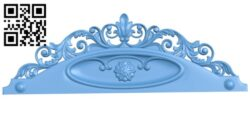 Pattern of the bed frame A006475 download free stl files 3d model for CNC wood carving