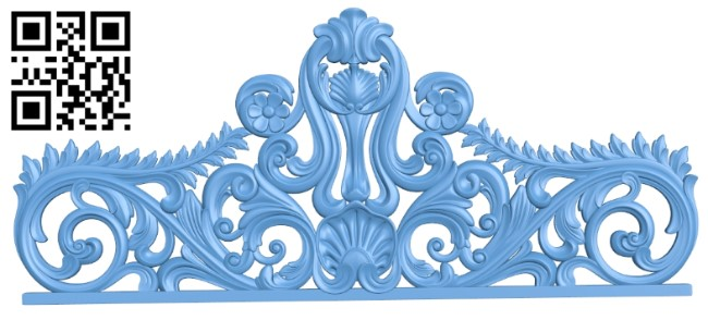 Pattern of the bed frame A006476 download free stl files 3d model for CNC wood carving