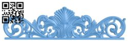 Pattern of the bed frame A006477 download free stl files 3d model for CNC wood carving