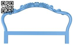 Pattern of the bed frame A006478 download free stl files 3d model for CNC wood carving