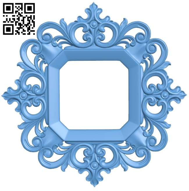 Picture frame or mirror A006481 download free stl files 3d model for CNC wood carving