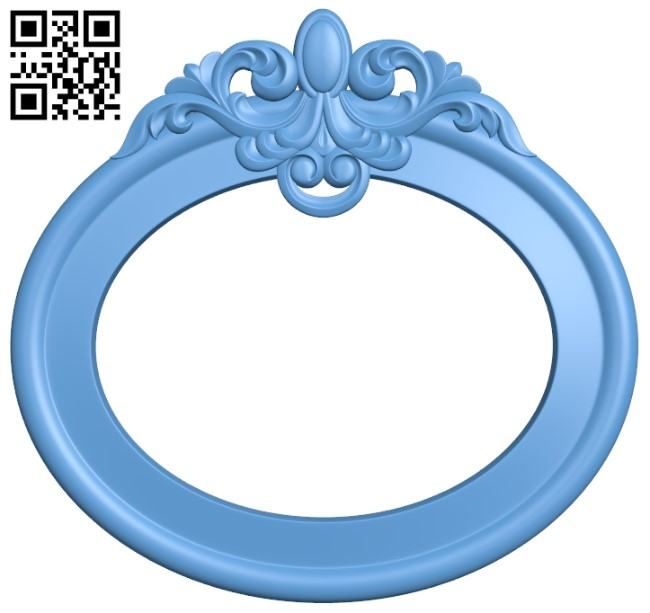 Picture frame or mirror A006482 download free stl files 3d model for CNC wood carving