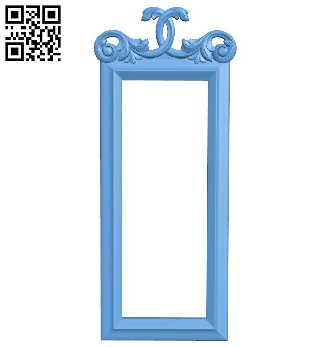 Picture frame or mirror A006483 download free stl files 3d model for CNC wood carving