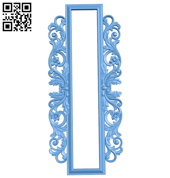 Picture frame or mirror A006485 download free stl files 3d model for CNC wood carving