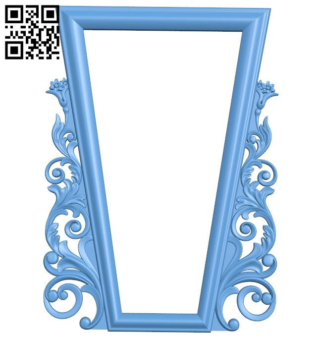 Picture frame or mirror A006486 download free stl files 3d model for CNC wood carving