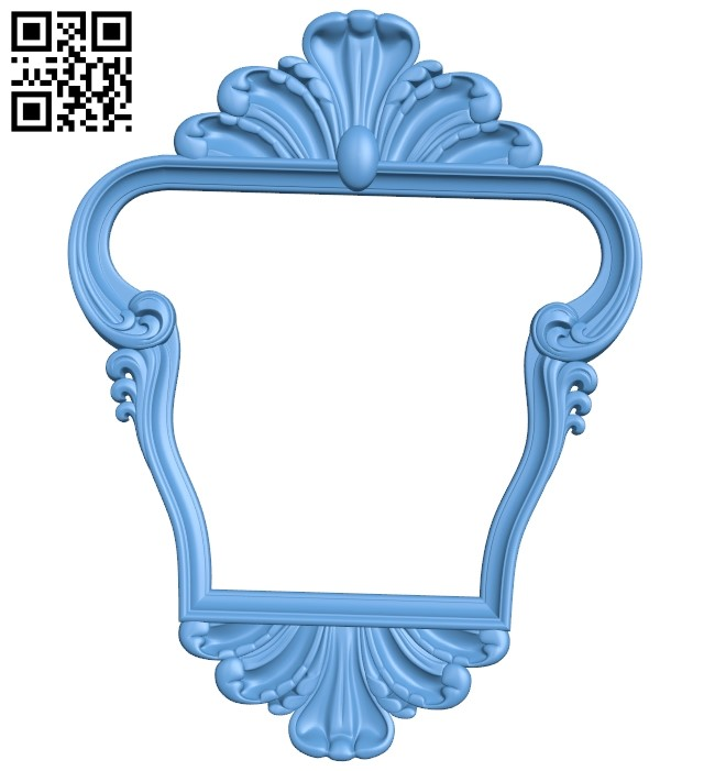 Picture frame or mirror A006488 download free stl files 3d model for CNC wood carving