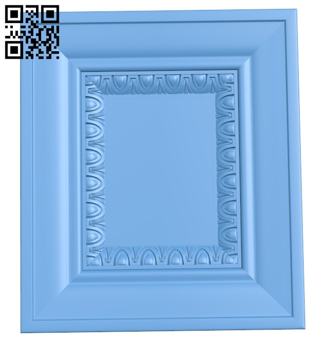 Picture frame or mirror A006543 download free stl files 3d model for CNC wood carving