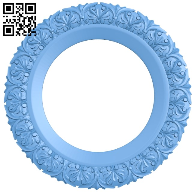 Picture frame or mirror A006548 download free stl files 3d model for CNC wood carving