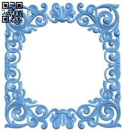 Picture frame or mirror A006549 download free stl files 3d model for CNC wood carving