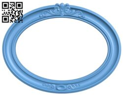 Picture frame or mirror – oval A006541 download free stl files 3d model for CNC wood carving