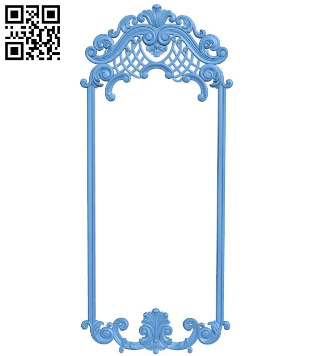 Picture frame or mirror - oval A006542 download free stl files 3d model for CNC wood carving