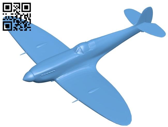 Plane spitfire B009588 file stl free download 3D Model for CNC and 3d printer